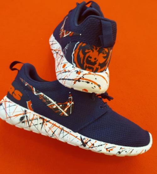 Chicago Bears Shoes Nike Roshe One Custom 'Bear Down
