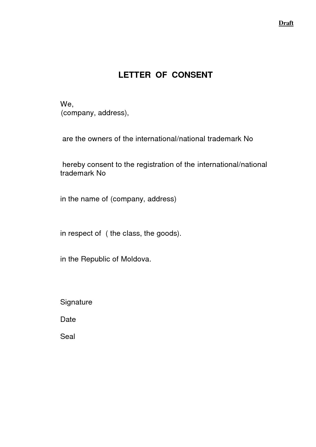 Letter Of Consent Sample from i.pinimg.com