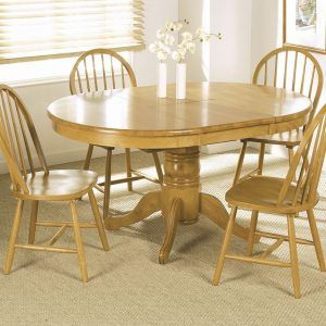 Exceptional Pine Extending Dining Room Table And Chairs