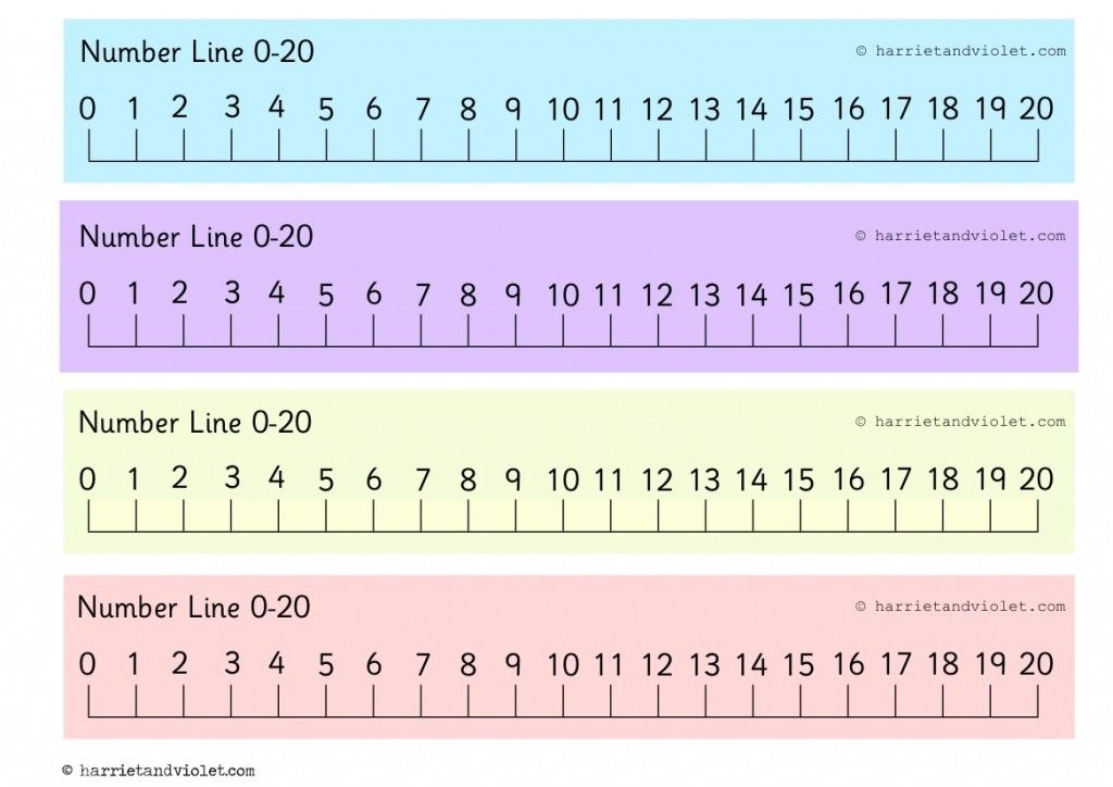 Printable Number Line 1 20 Printable Number Line Number Line