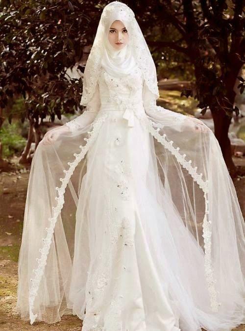 Koleksi Gambar Baju Pengantin Muslim Modern Desain Baju Muslim