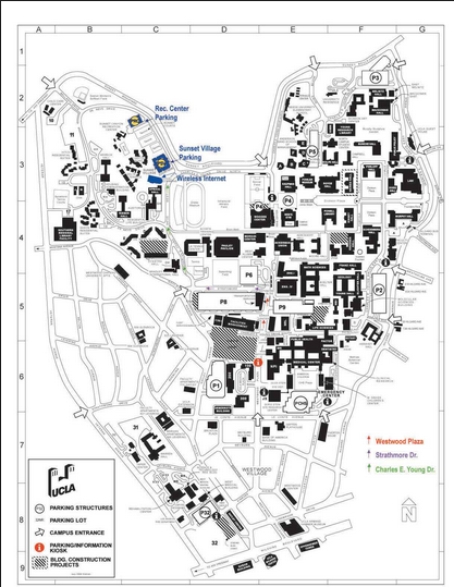 Ucla Campus Map Pdf UCLA campus map. | university | Ucla campus map, Ucla campus  Ucla Campus Map Pdf