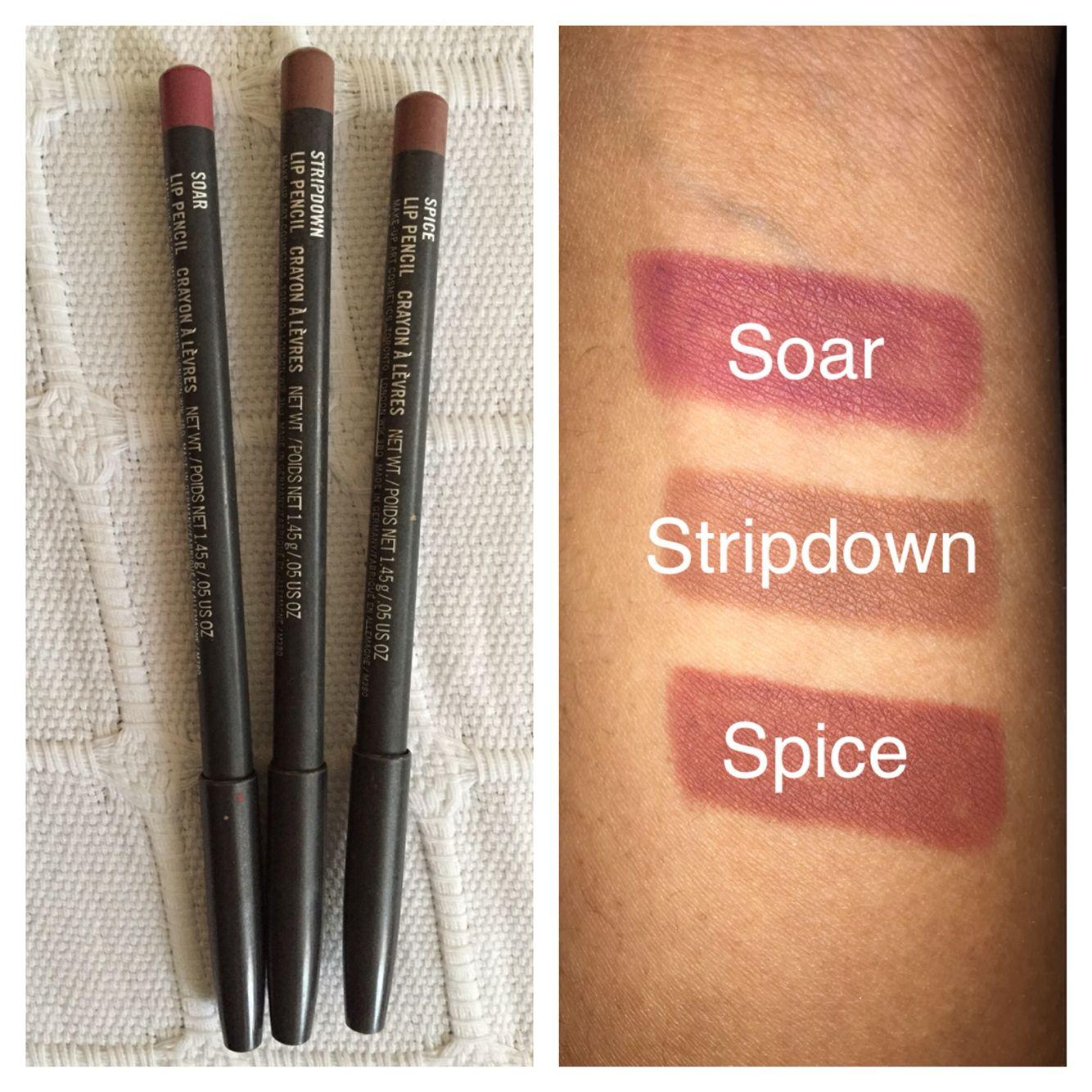 Mac Lipliners Soar Stripdown Spice Pinterest