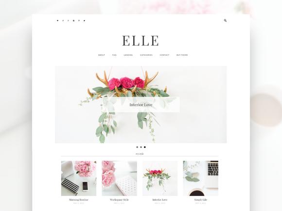 Responsive Stylish Wordpress Theme by Bloom Blog Shop on