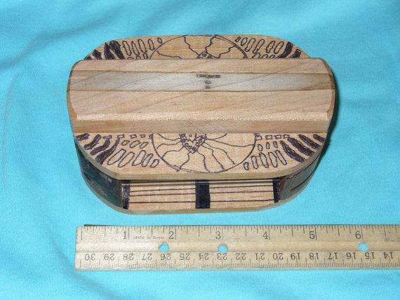 Multiwood and Multimedia Art Box by CustomBox on Etsy, $30.00