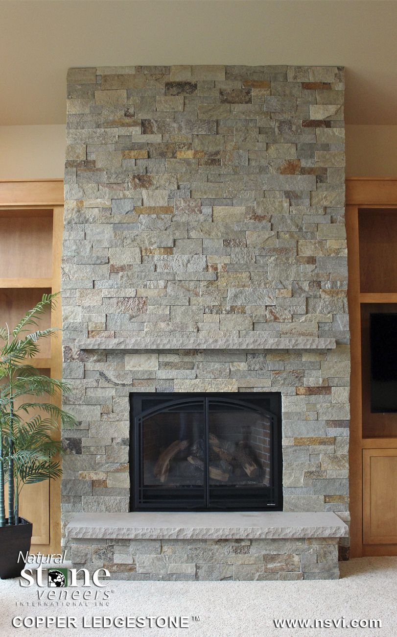 ledge stone fireplace. Copper Ledgestone  New product from NSVI the Dimensional Collection Squared ends Fireplace PetraSlate Silver Split Face Northfield