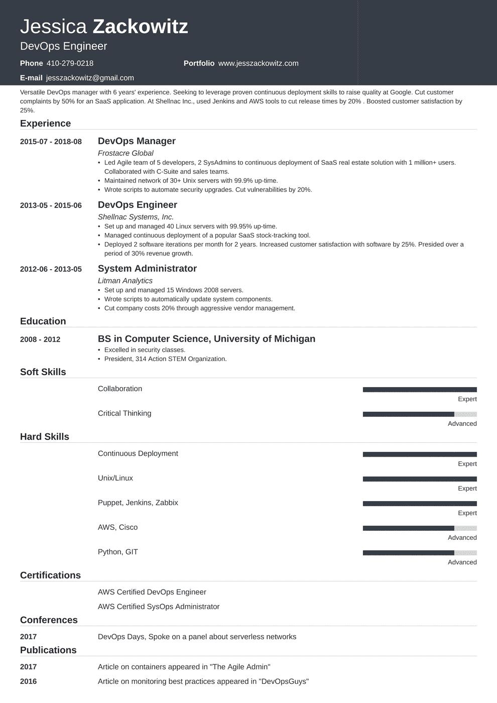 Devops Resume Template Influx Job Resume Examples Resume Examples Resume Template