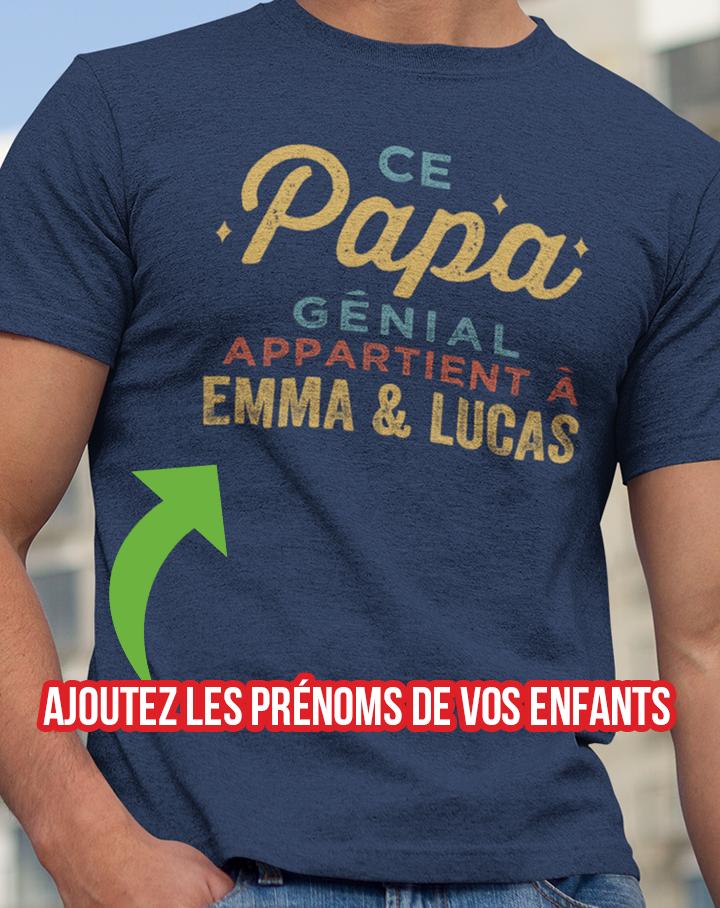Papa Fille Cadeau pour Papa t Shirt Homme Humour T-Shirt Homme