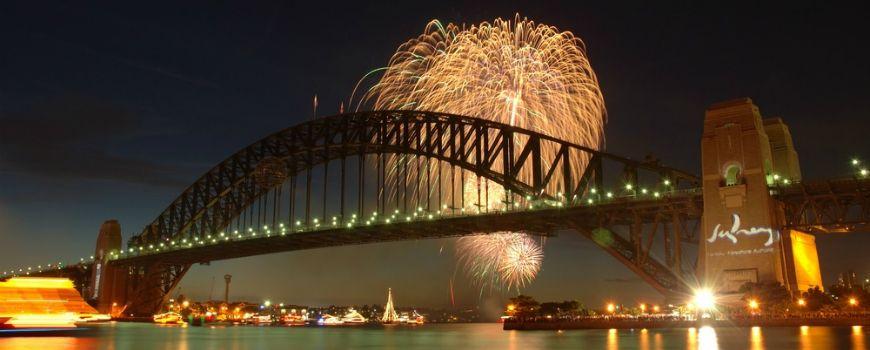Fireworks on the Sydney Harbour Bridge