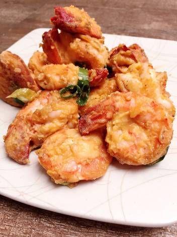 Resep Udang Tepung : resep, udang, tepung, Resep, Udang, Goreng, Telur, Udang,, Seafood,, Makanan, Minuman