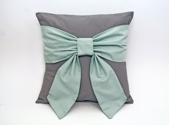 We're Mint to Be Bow Throw Pillow by PeppermintPillow on Etsy