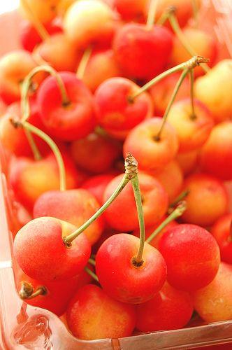 Rainier cherries - my favorite!
