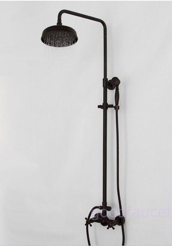 Brass Oil Rubbed Bronze Shower Set Faucet 8 Shower Head Handheld