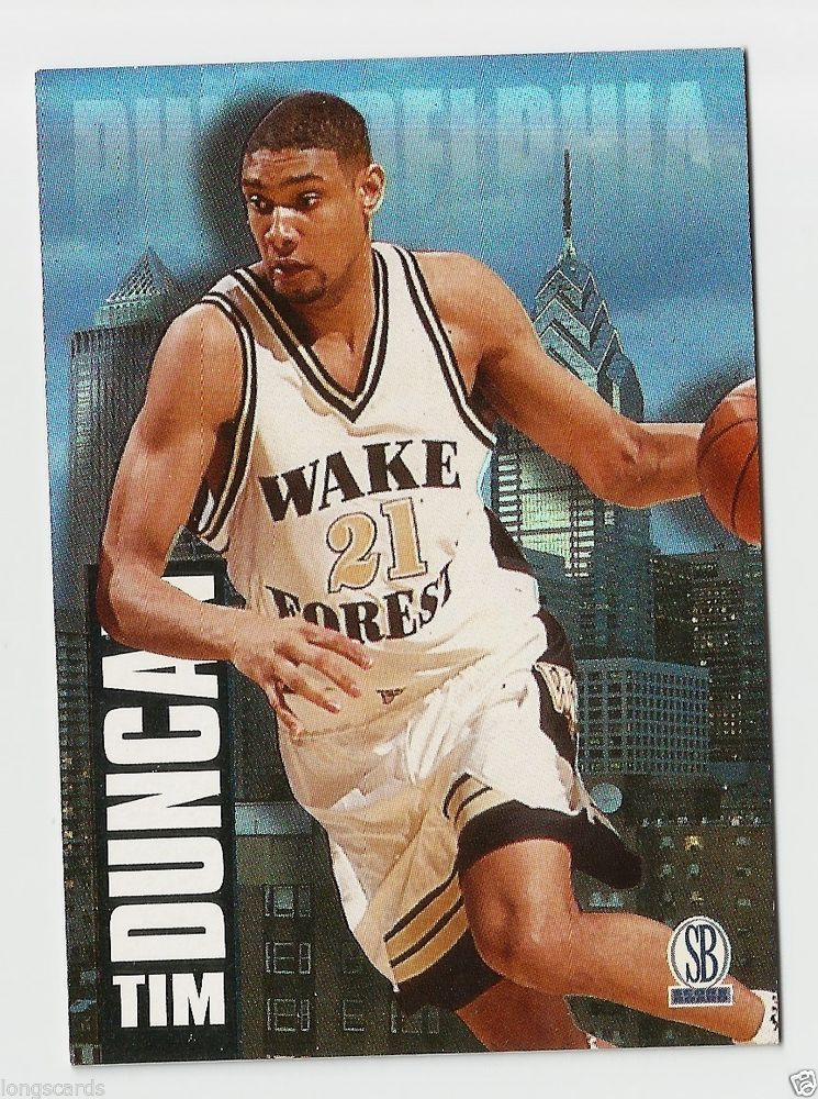 1996 97 Sb Tim Duncan Rookie Card 18 San Antonio Spurs