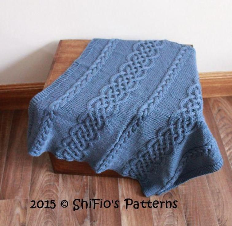 Shifios Celtic Cable Afghan Pattern Usa Craftsy Blankets