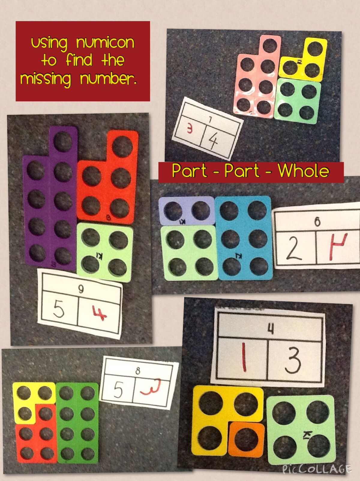 Using Numicon To Understand The Missing Numbers In Part