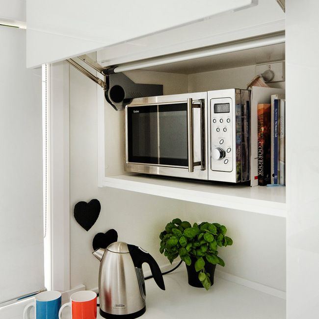 Microwave Cabinet With Lift Up Door Laundry In Bathroom