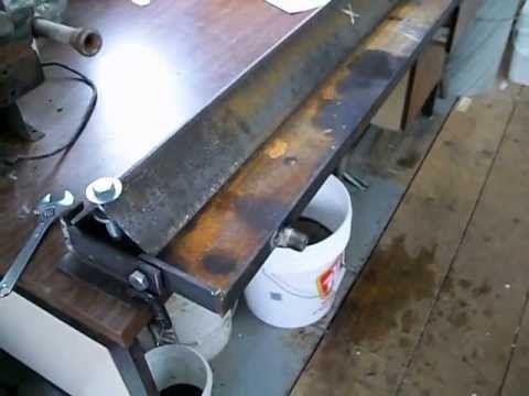 Sheet Metal Bender Brake The Make Diy Amp First Use Stainless Steel Bbq Youtube Sheet Metal Brake Metal Working Tools Sheet Metal Fabrication