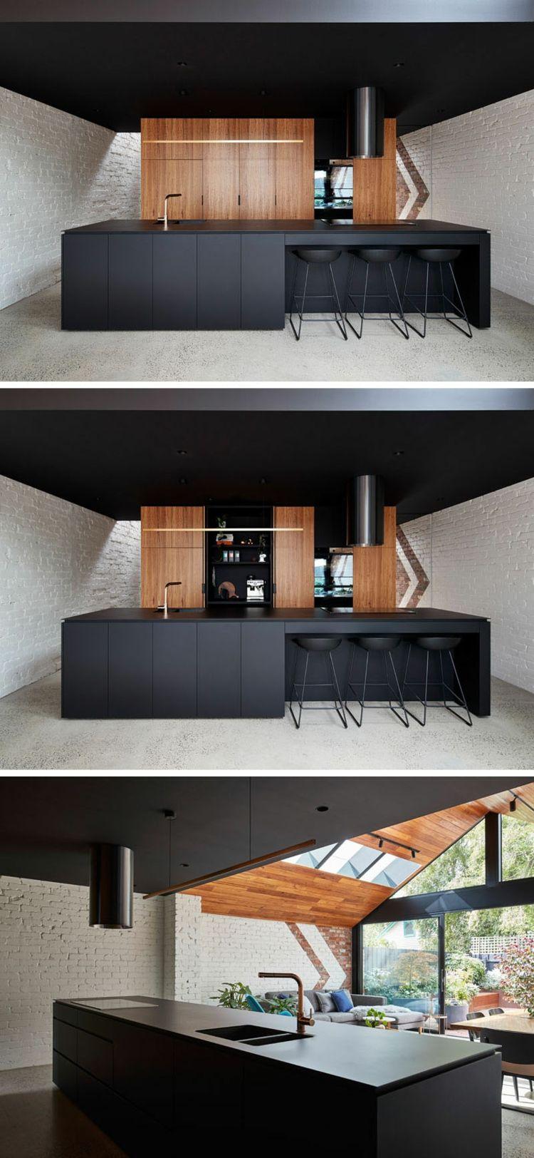 Küchenbereich mit Kochinsel und Küchenschränke | Küche | Pinterest ...