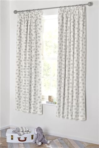 Buy Happy Elephant Blackout Pencil Pleat Curtains from the Next UK ...