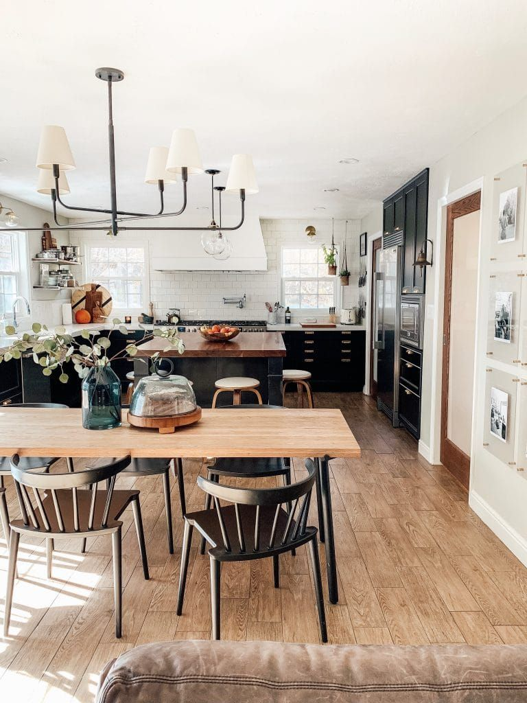 Casual Friday Wood floor kitchen, Wall dining table