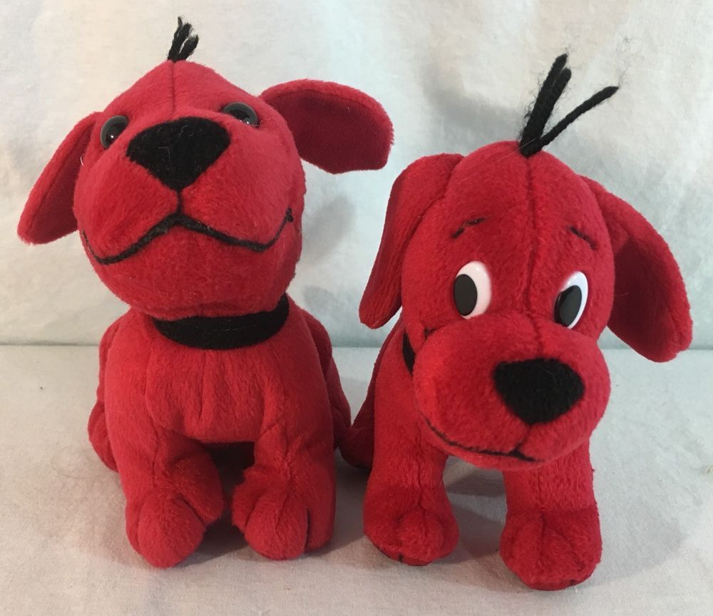 Lot Of 2 Plush Clifford The Big Red Dog Stuffed Toys Red Dog
