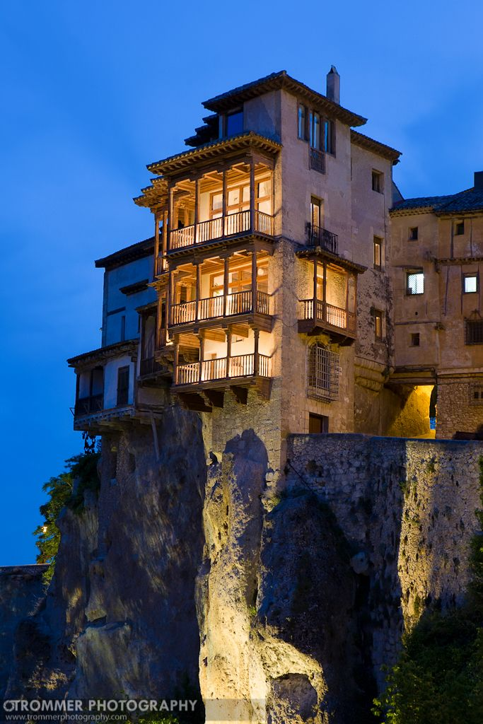 Cuenca, Spain   Casas Colgadas (Hanging Houses) At Dusk. Cuenca Is A UNESCO  World Heritage Site. I Spent Two Fantastic Years In This Provincial Capital.
