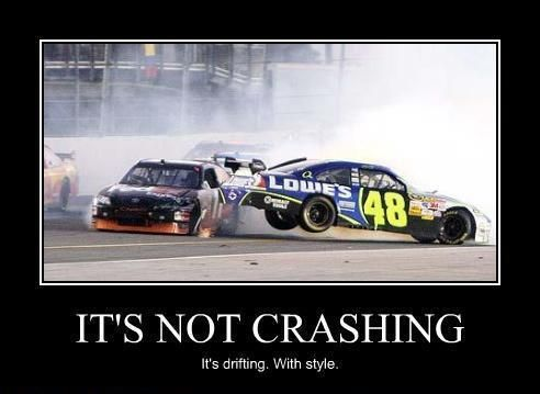 Crashing With Style Nascar Buzz Lightyear Quote Slightly Tweaked Nascar Memes Nascar Quotes Nascar Crash