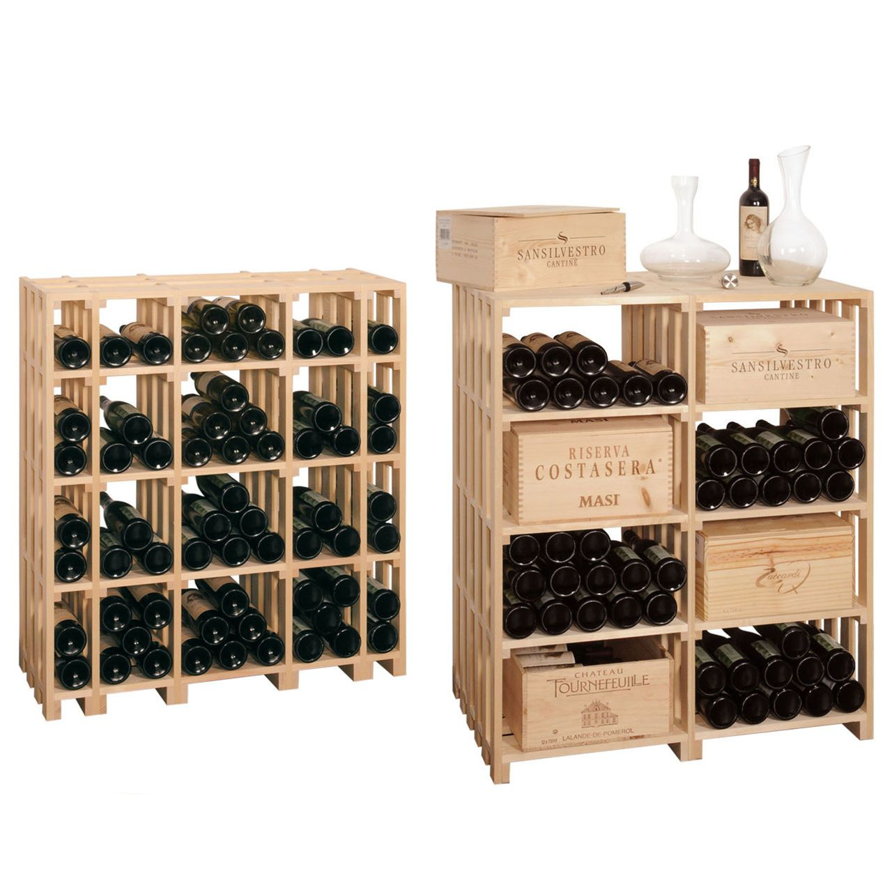 weinregal caveaustar aus holz optimal zur lagerung f r weinkisten weinregalsystem caveaustar. Black Bedroom Furniture Sets. Home Design Ideas