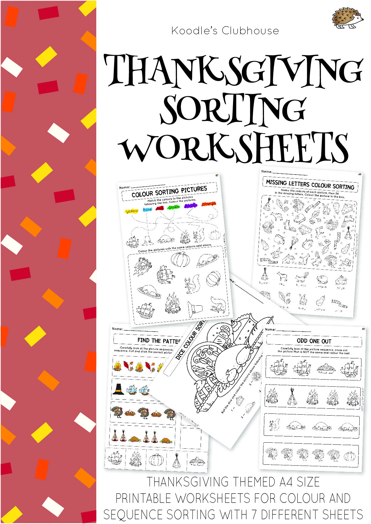 Thanksgiving Sorting Worksheets With Images