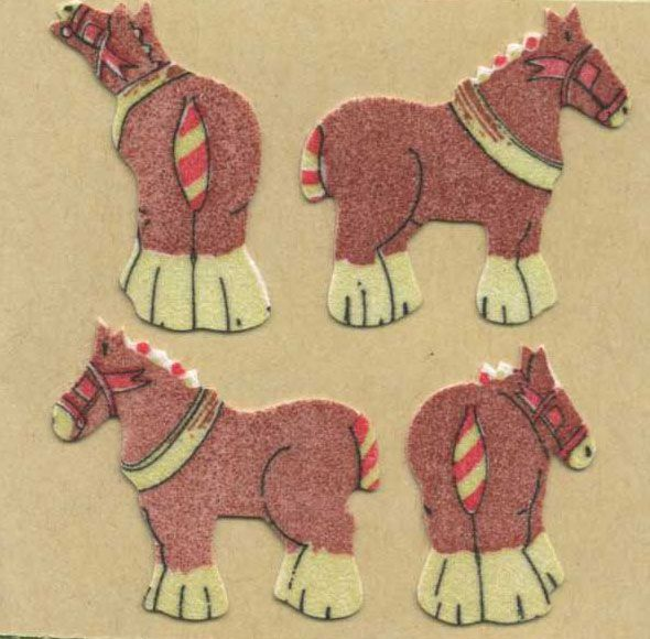 Shire Horses Stickers Horse