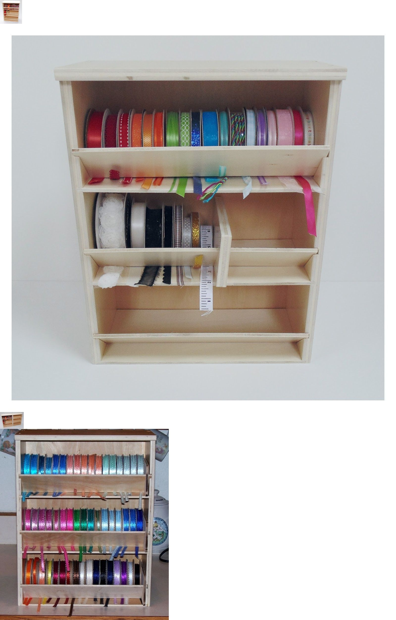 Craft And Paper Racks 146402 Ribbon Label Storage Rack Organizer