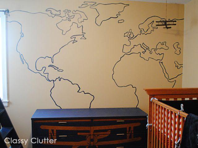 Diy World Map Wall Mural Map Wall Mural World Map Mural