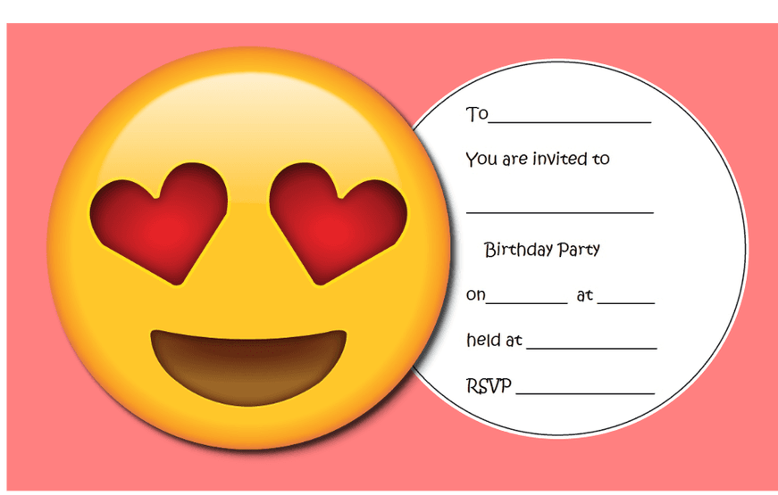 emoji party invite free printables emoji in 2018 pinterest