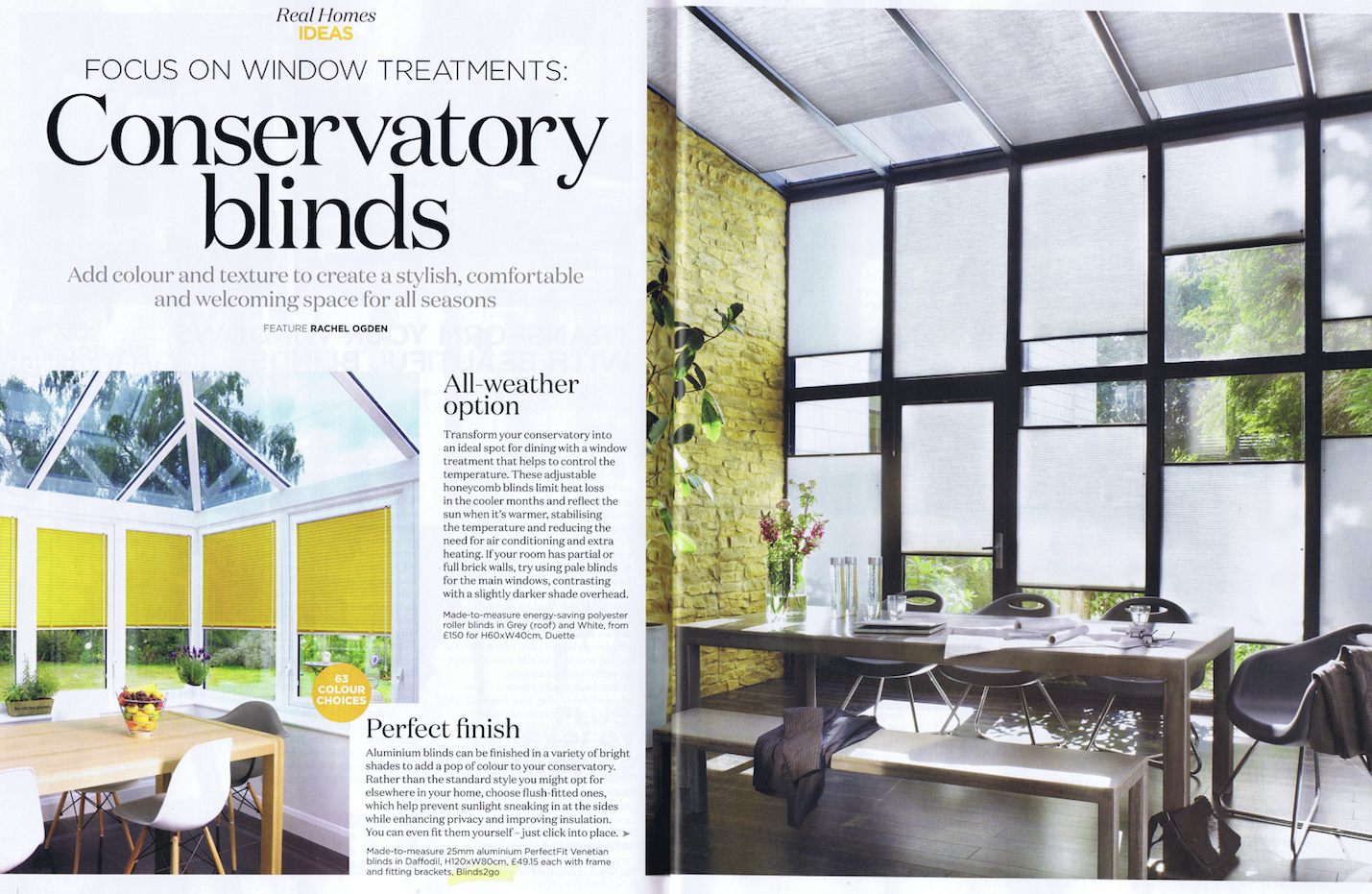 Hot Off The Press Conservatory Focus House And Home Magazine Home Focus Window Treatments