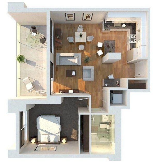Plano de departamento con balcón Proyecto Planos Pinterest