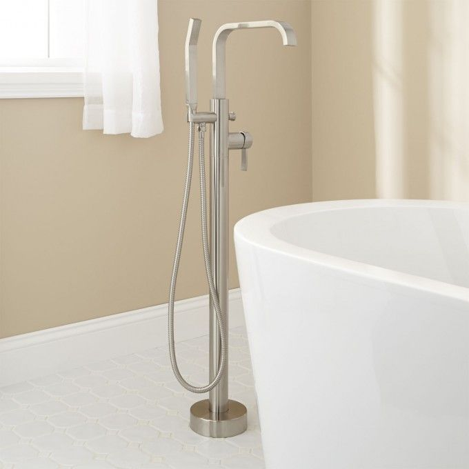 Metis Freestanding Tub Faucet With Hand Shower Brushed Nickel
