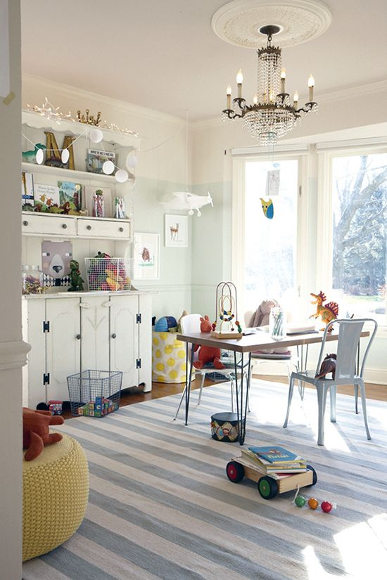 This Modern Dining Room Was Turned Into A Playroom Formal Dining Room Formal Living Rooms Home