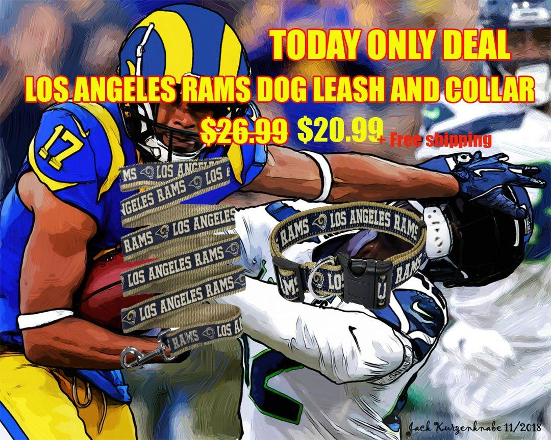 Pin by SportsDoggy on NFL Dog leash, La rams, Nfl playoffs