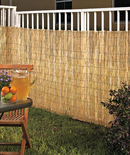 Reed Privacy Fence Abc Distributing Backyard Fences Fence