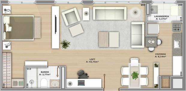 Loft simples planta pesquisa google ideias para a casa - Apartamentos tipo loft ...