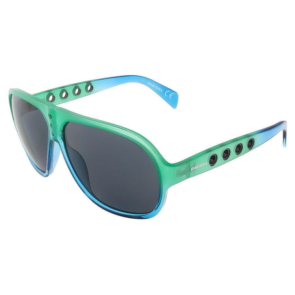 Diesel Green and Blue Gradient Aviator sunglasses