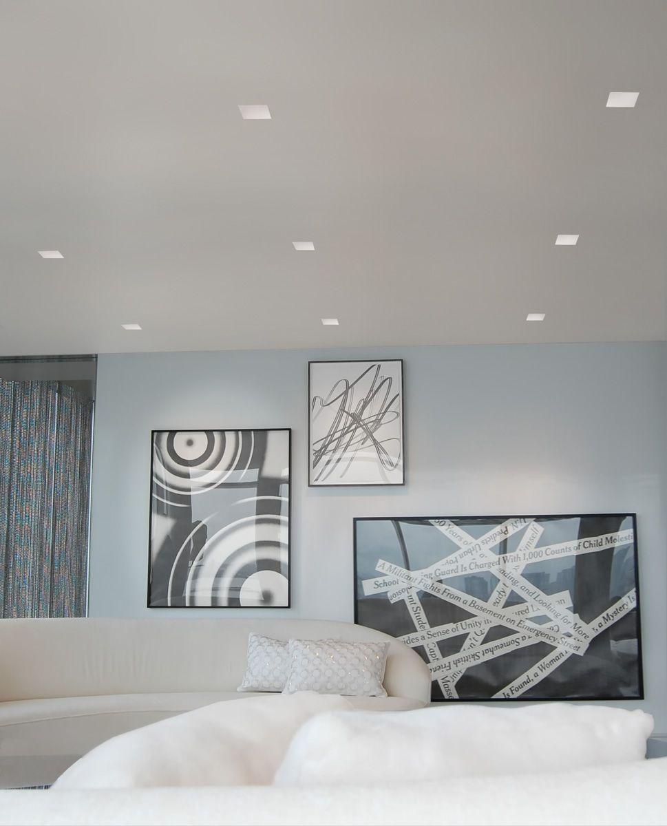 Aurora Halogen Square Edge 3.3 Inch Invisible Trim/Housing