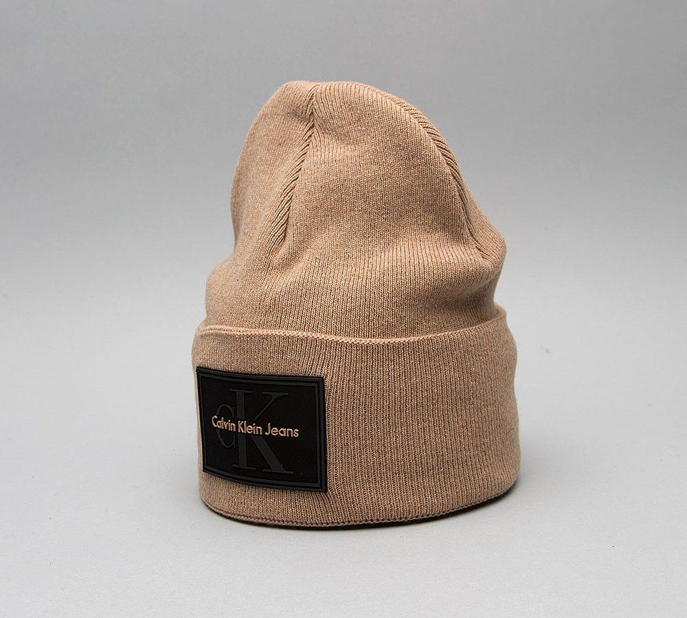 d3376882137 Calvin Klein Logo Beanie Hat in Black