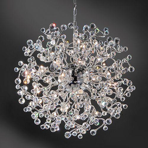 vide hanglamp groot rond chroom kristal straluma videlamp