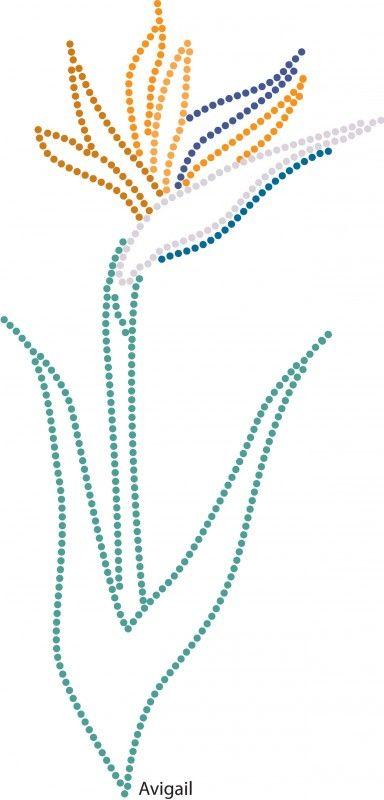 Bird Of Paradise Bloemen En Planten Glittermotifs