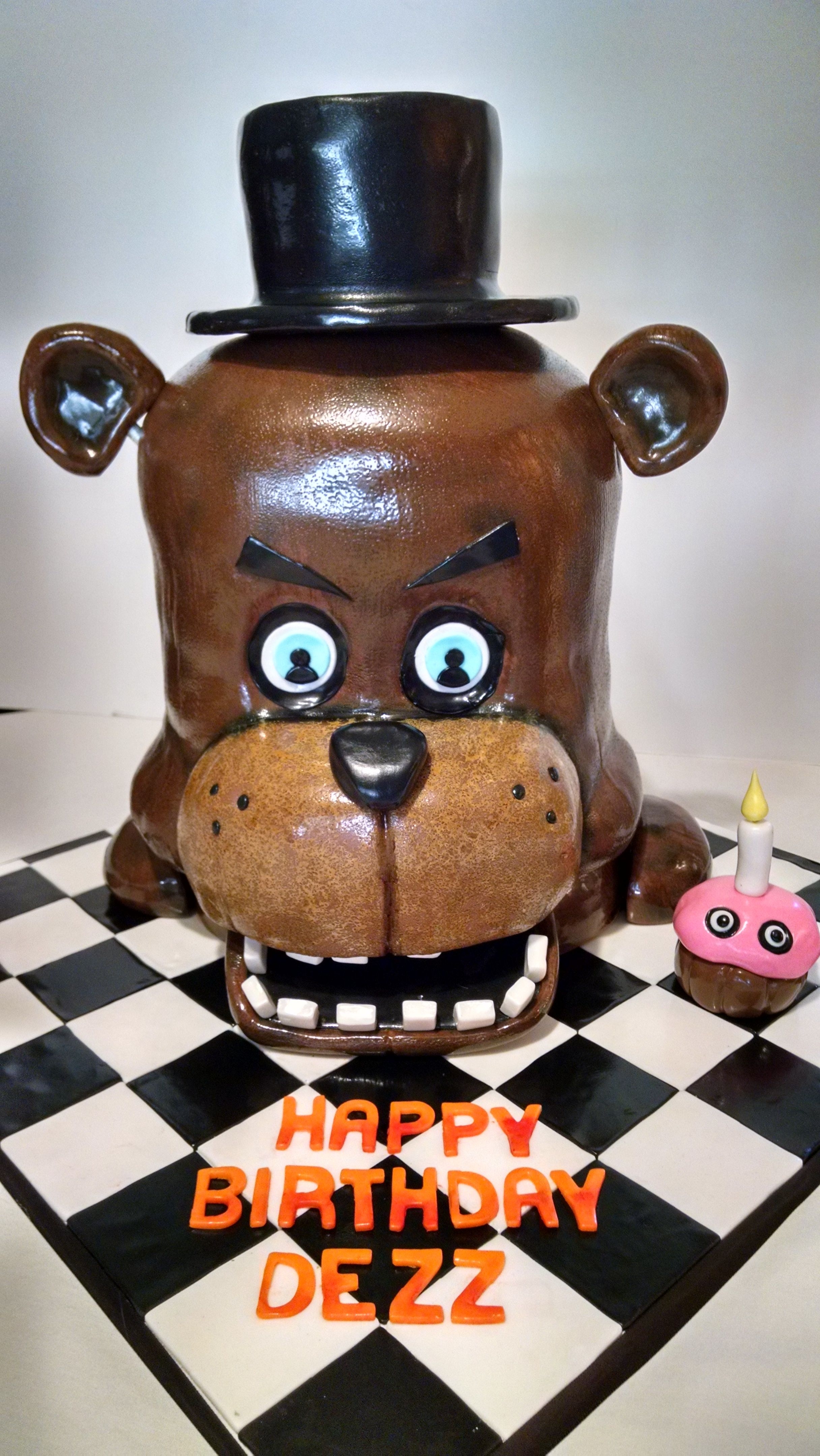 Five Night S At Freddy S Freddy Faz Bear In 3 D Cakes