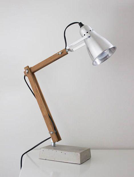 Diy Desk Lamp Med Billeder Diy Lampe Lampe Lamper