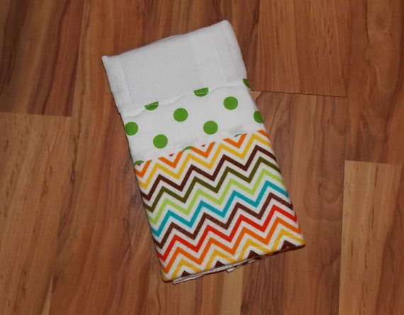 What a great baby shower gift!  Baby Burp Cloth/Chevron/Polka Dot print by DarlenesNeedlesnPins