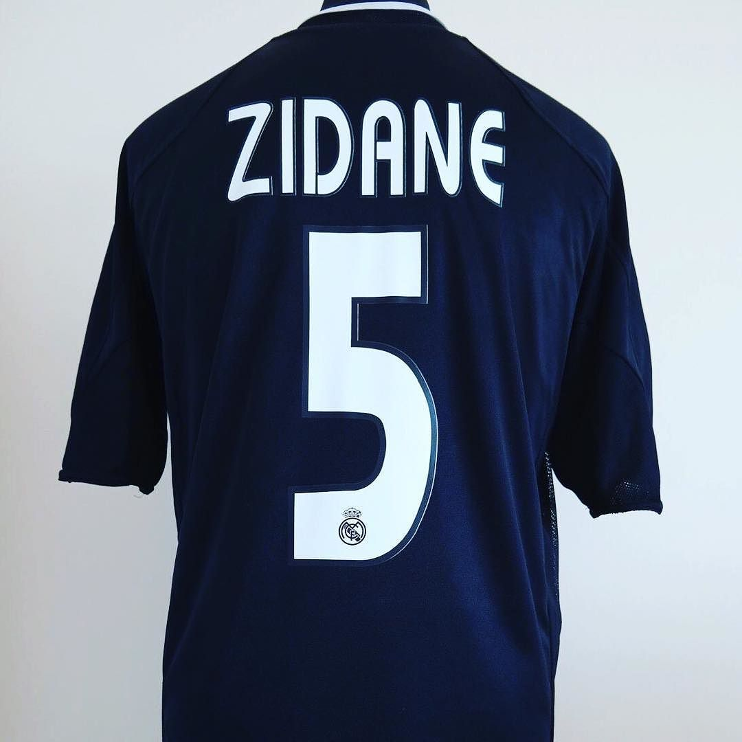 10a3b5153 2004-05 Real Madrid Away Football Shirt Adult Large ZIDANE  5 - sick shirt  from  classicelevenunited Get your in store  zidane  real  realmadrid   halamadrid ...
